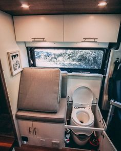 "Build Series, part 1 of Our Toilet! ☺️___ ""It's a campervan, not an RV, why do you have a toilet?"" We've heard this sentiment a number of times, and we always smile and reply that it makes us feel comfortable and happy on the road. Van Conversion Interior, Camper Van Conversion Diy, Van Interior, Sprinter Camper, Diy Camper, Truck Camper, Kombi Home, Van Home, Van Living"
