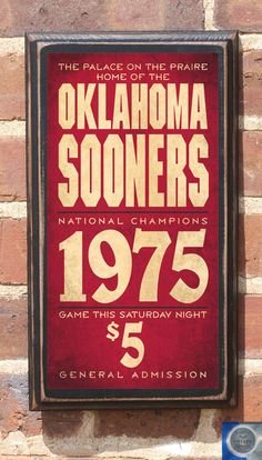 University of Oklahoma Sooners Football Antique by CrestField