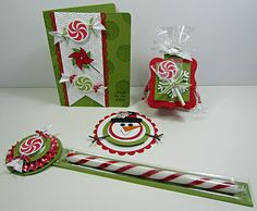 Sweets for the Sweet: card, 1x8 treat topper, telescoping snowman, 2 Peekaboo Frames treat holders, gift card clutch purse