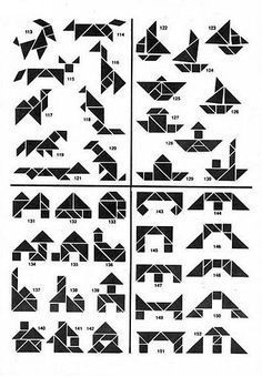 legepuzzle vorlagen tiere | tangram | legespiele, puzzle und legenden