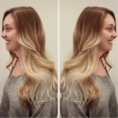 Dark to light, ombré blonde! Hair by SALON by milk + honey stylist, April R.