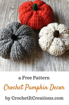 Crochet Amigurumi Basket Crochet Pumpkin Decor Free Crochet Pattern - Complete your fall decorations with this cute and simple Crochet Pumpkin Pattern by Crochet It Creations. These would be perfect gifts or for a craft show! Crochet Crafts, Easy Crochet, Crochet Projects, Free Crochet, Crochet Ideas, Crochet Pumpkin Pattern, Halloween Crochet Patterns, Crochet Decoration, Crochet Fall Decor