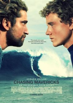 Chasing mavericks - Gerard Butler and Jonny Weston. It was an outstanding film! Waves are so magnificent, took my breath away. Really good movie. I love surfing so this is a god movie. Movies And Series, Hd Movies, Movies To Watch, Movies Online, Movie Tv, 2012 Movie, Teen Movies, Movies Free, Family Movies