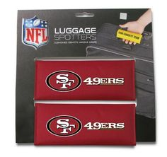 NFL San Francisco 49ers Single Luggage Spotter by Rico. $8.40. Nylon handle wrap for cushion comfort with patented ID window sewn in place and enclosed by velcro