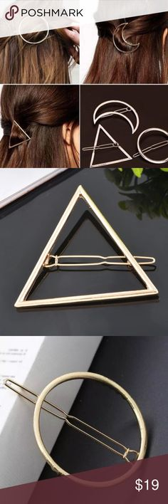 ✅PurchaseNow 🆕 OJDC Accessory | 3pc Set who doesn't love beautifully simple and elegant hair designs | get the look of the season in this half moon and triangle clip set | choose from a gold or silver set and receive 3 designs in your purchase | 1pc half moon, 1pc triangle, 1pc circle 🚨 don't miss out and guarantee you'll receive this when it becomes available by pre-ordering online with us at oceanjewelersdesignco.com OJDC Accessories Hair Accessories