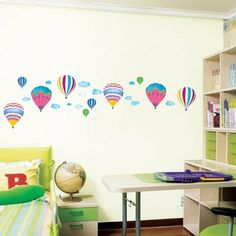 Air Balloon - Mural - Wall Stickers Home Art Deco Wall Decals by FixPix - WallSensation, http://www.amazon.co.uk/dp/B003PIZ5JA/ref=cm_sw_r_pi_dp_.ckVrb0J1ZYP7