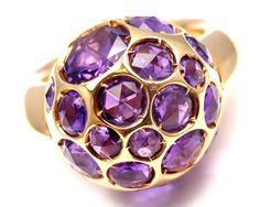 New! Authentic Pomellato Harem 18k Rose Gold Amethyst Ring Box/Certificate #Pomellato