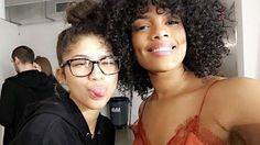 Zendaya + one of the models for her clothing line ✊🏽😻 - @Zendaya #zendaya #zendayaupdate