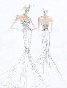Exclusive Spring 2015 Wedding Dress Sketches : Brides