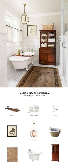 A Rustic Tennessee Home That Does White Right | Bathrooms ... on vintage bathroom cabinets, vintage marble bathroom designs, country bath designs, vintage blue bathroom designs, vintage bathroom remodeling ideas,