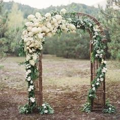 Looking for some aisle style inspiration? Well you've come to the right place! From floral arches to chic chuppahs! Photo: Jose Villa