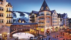 The Arabelle resort in Vail... just beautiful out there,  one of my favorite places to ski.  The snow is falling, so get your ski's on and go!