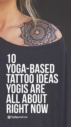 10 Yoga-Based Tattoo Ideas Yogis Are All About Right Now