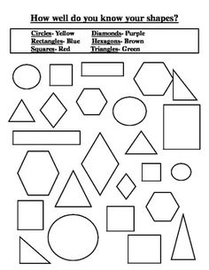 Includes ten 2D shapes: circle, square, triangle