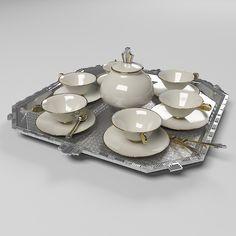 Art Deco Coffee Set Max Free - 3D Model