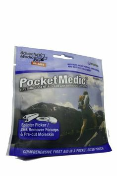 Adventure Medical Kits Pocket Medic Kit by Adventure Medical Kits. $6.09. Dryflexmedic pouches weigh next to nothing, fit just about anywhere, and keep water out of your kit. Medications to treat pain, inflammation, and common allergies. Ultralight, waterproof, and pocket-sized. Manage pain and illnesses. The pocket medic proves that a comprehensive first aid kit can still fit in your pocket! This kit features medications for pain and allergy, after bite insect bite a...
