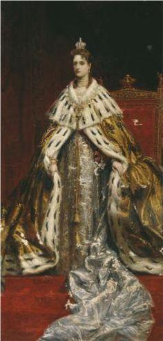 Portrait of Empress Alexandra Feodorovna (Alix of Hesse) - Konstantin Makovsky