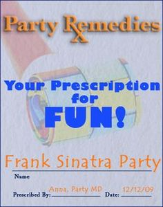 Details for sinatra style party