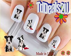 Boston Terrier Puppy I Love  Dog Breed Nail Decals  WaterSlide Nail Art Decals  Highest Quality Made in USA -- Want additional info? Click on the image.