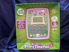 FREE SHIPPING! LEAPFROG MY OWN STORYTIME PAD PURPLE USB CABLE LEARNING FUN PRIORITY SHIP NIB