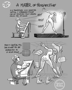 A Matter Of Perspective | Tutorial by Griz & Norm*   • Blog/Website | (www.grizandnorm.tumblr.com) • Online Store | (https://www.etsy.com/shop/GRIZandNORMstudio) Référence Poses, Drawing Practice, Life Drawing, Drawing Lessons, Drawing Tips, Drawing Techniques, Anatomy Drawing, Anatomy Sketches, Gesture Drawing