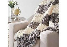 This is a really easy blanket pattern and works up very quickly