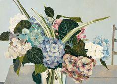 Cressida Campbell (Australian, b. 1960), Hydrangeas, 1992. Woodblock print on…