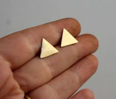 Brass Triangle Studs