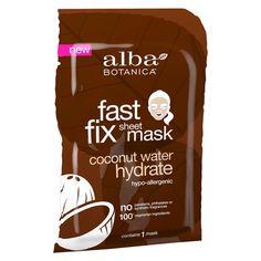Alba Botanica Fast Fix Sheet Mask Hydrate Coconut Water 1 ct