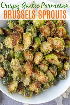 dinner side dishes Easy-to-make roasted brussels sprouts that will win anyone over. This recipe comes together in under 30 minutes and is FULL of amazing flavor Side Dishes Easy, Side Dish Recipes, Veggie Recipes Sides, Healthy Vegetable Recipes, Healthy Cooking Recipes, Make Ahead Healthy Meals, Healthy Low Carb Meals, Soup Recipes, Clean Dinner Recipes