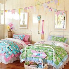 Lake house decor via Pottery Barn Kids - Would love this for the kids sleepovers.