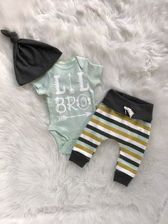 baby boy coming home outfit/Lil Bro coming home outfit/Little brother outfit/coming home outfit/ take home outfit/ baby boys/organic cotton by bibitibobitiboutique on Etsy