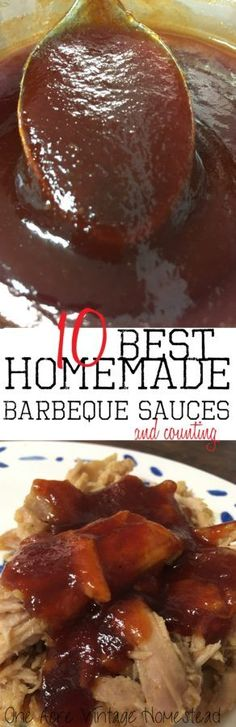 You can make more than 10 of the best barbecue sauces from one basic recipe. Included are several great recipes that go with all these perfect BBQ sauces.