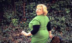 German Curves: Date Night – Green Valentine | Miss Kittenheel PinUpgirlClothing PUG Veronica dress olive pinup plussize curvy wiggle dress