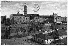 Foto storiche di Roma - Basilica di Santa Croce in Gerusalemme, vista posteriore lato Monastero monaci Cistercensi Anno: cartolina viaggiata nel 1941