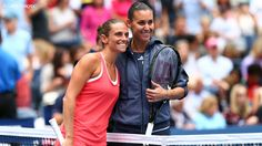 Pennetta and childhood friend Roberta Vinci posed for the traditional photo at net before the match.