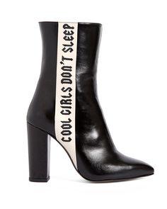 69cf4937d9a4 Havva Mustafa Cool Girls Don t Sleep boot in black Designer Boots