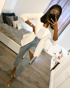 Cute Casual Outfits, Chic Outfits, Spring Outfits, Fashion Outfits, Casual Wear, Black Girl Fashion, Look Fashion, Lace Gown Styles, Classy Casual