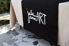 DIY Craft Show Fabric Sign (No Sew!)