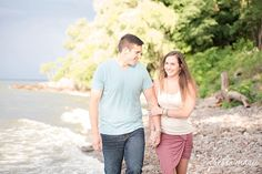 nautical engagement session, coral and blue