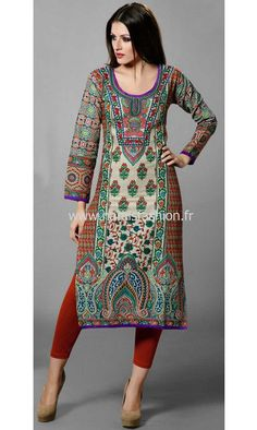 Tunique Indienne - Multicolore Indian Kurty