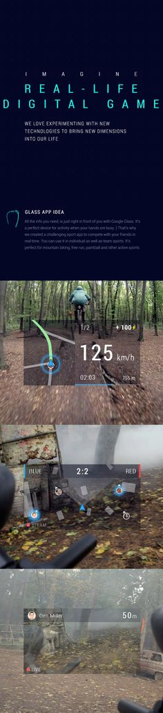 ELEKS Google Glass Experiment by Oleg Gasioshyn, via Behance