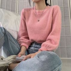 Pink Outfits, Cute Casual Outfits, Pretty Outfits, Skirt Outfits, Korean Winter Outfits, Korean Outfits, Korean Girl Fashion, Ulzzang Fashion, Korean Fashion School