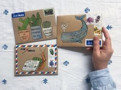 Make your mail beautiful with these free, downloadable illustrated envelope templates to print and paint