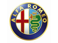 The Alfa Romeo logo that has been modified many times is an admixture of the coat-of-arms of the city of Milan; the Red cross on a white background, and the heraldic insignia of the Visconti's family. Description from guity-novin.blogspot.com. I searched for this on bing.com/images