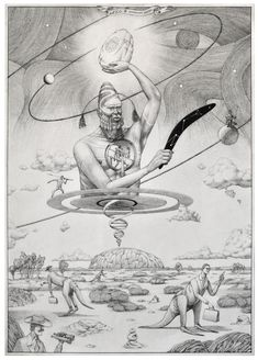"""The memory of ancestors of the Third Planet"" drawing"