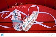 Silhouette America Blog | DIY Fabric Baby Sandals | Tutorial