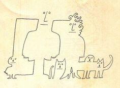 Saul Steinberg kattens