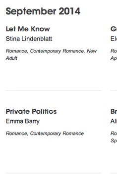Release date: September September 8, Release Date, Screen Shot, Novels, Romance, Politics, Let It Be, Easy, Romances