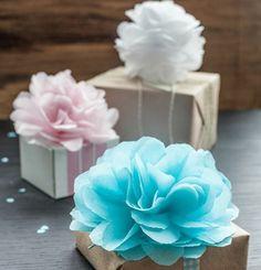 comment faire une rose en papier, une superbe déco pour votre emballage cadeau